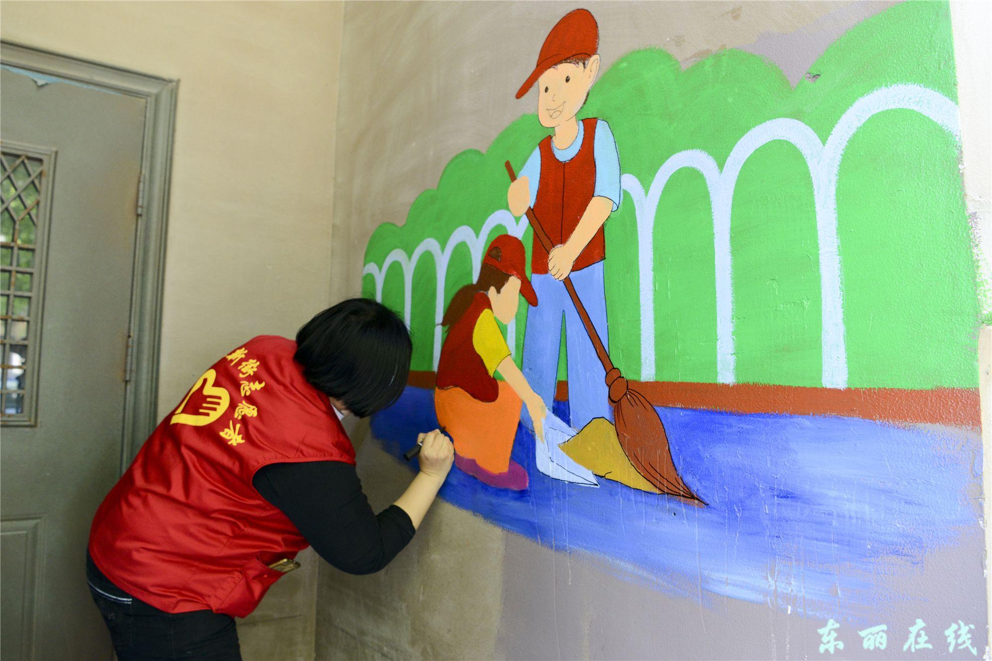 华新街社区:60幅文化彩绘营造浓厚创文氛围